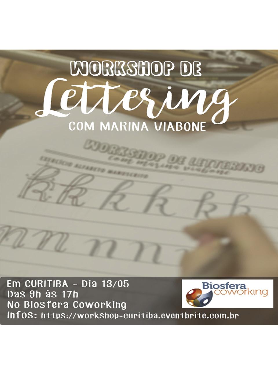 Workshop Biosfera Coworking Curitiba Lettering
